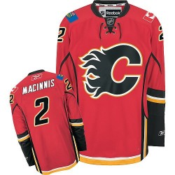 Al MacInnis Calgary Flames Reebok Authentic Red Home Jersey