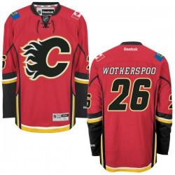 Tyler Wotherspoon Calgary Flames Reebok Authentic Red Home Jersey