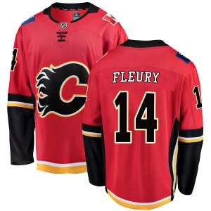 Youth Theoren Fleury Calgary Flames Fanatics Branded Breakaway Red Home Jersey